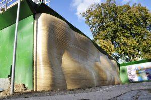 Vibenshus Runddel, Byens Hegn. Værket 'Woodway' af Anders Werdelin.